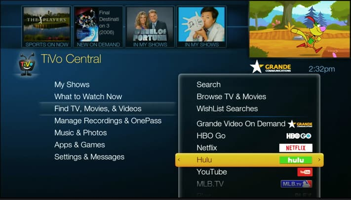 Hulu is Now Available on TiVo®!