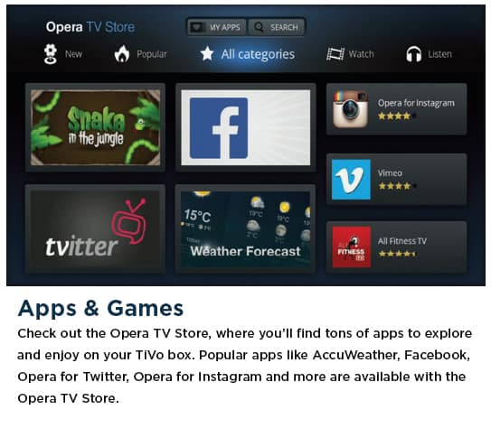 TiVo - Apps and Games