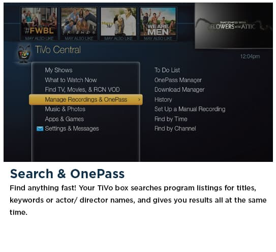Search and OnePass - TiVo