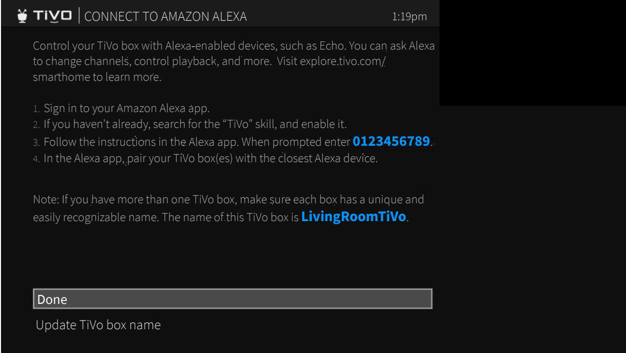 TiVo | Connect to Amazon Alexa
